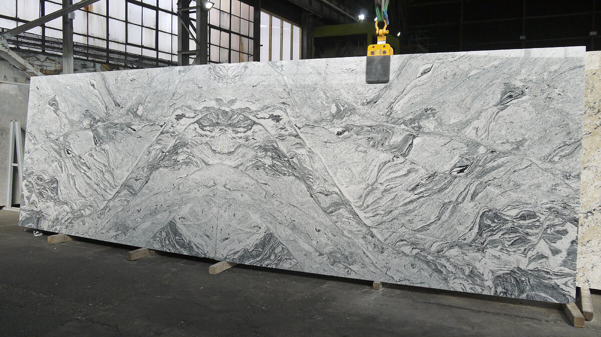 Book Matched Viscount White Granite